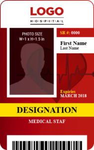 Medical Staff Photo ID Badge