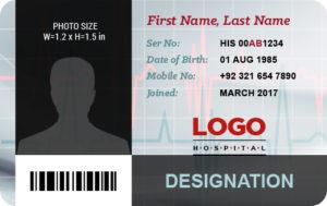 Medical Staff Photo ID Badge