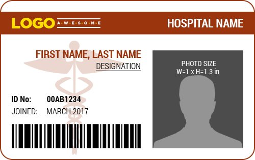 Ms word photo id badge templates for all professionals for Dr name tag template