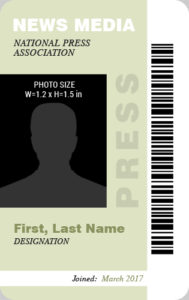 Press Photo ID Badge Template