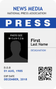Press Photo ID Badge Template