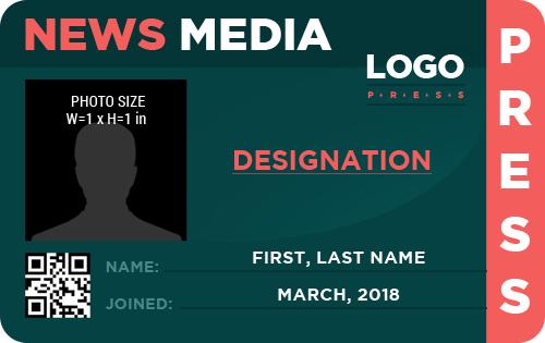 Press photo id badges