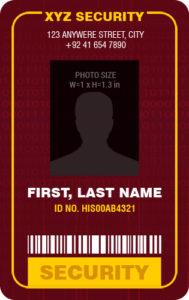 Security Professional Photo ID Badge