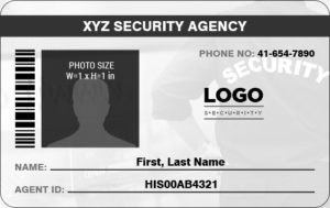 Security Professional Photo ID Badge
