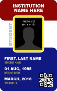 Student Photo ID Badge Template