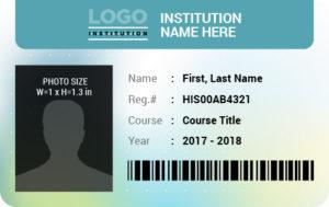 Student Photo ID Badge Template