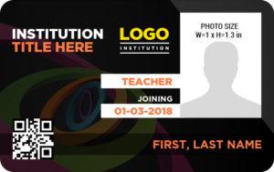 Teacher Photo ID Badge Template