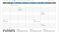 Weekly timetable sheet sample