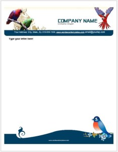Birds Letterhead Templates for MS Word