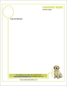 Dog Letterhead Templates for MS word