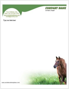 Horse Letterhead Templates for MS Word