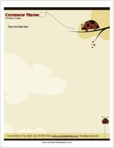 Ladybug Letterhead Templates for MS Word