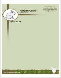 Rabbit Letterhead Templates for MS Word