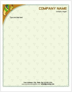 Baby Letterhead Template for MS Word