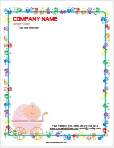 Baby Letterhead Template