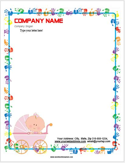 Event letterhead templates for ms word word excel templates baby letterhead template spiritdancerdesigns Gallery