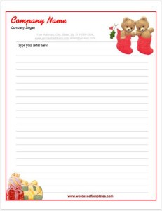 Christmas Letterhead Template for MS Word