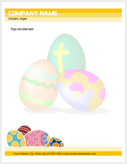 graphic relating to Easter Bunny Letterhead named Function Letterhead Templates for MS Phrase Phrase Excel Templates