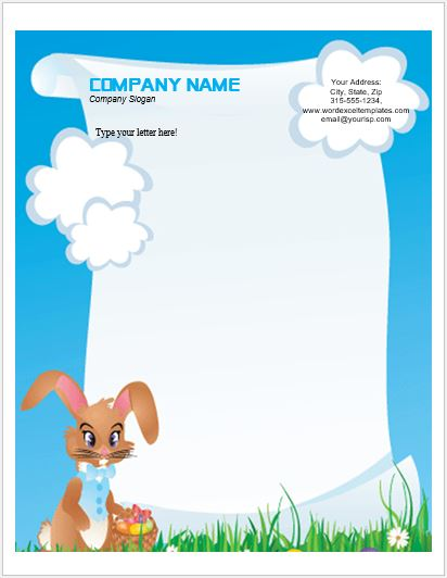 photo regarding Easter Bunny Letterhead referred to as Function Letterhead Templates for MS Phrase Phrase Excel Templates