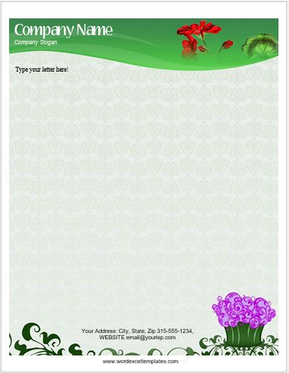 floral letterhead templates for ms word