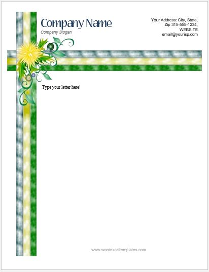 floral_letterhead_17-1 Job Application Email Templates on application letter through, interview thank you, offer letter, position inquiry, interview confirmation,