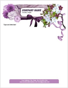 Floral Letterhead Template for MS Word