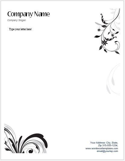 floral_letterhead_21-1 Template Christmas Letterhead Border on free printable disney, black white, free religious downloadable, free elegant, party invitation,