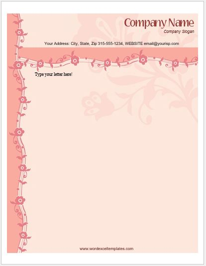 floral_letterhead_3-1 Job Application Form Word on sonic printable, civil service, example filled out, free printable sample, foot locker, blank generic, format for, home depot,