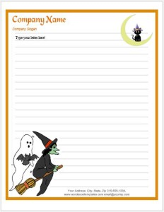 Halloween Letterhead Template for MS Word