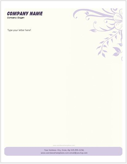 business letterhead templates for ms word