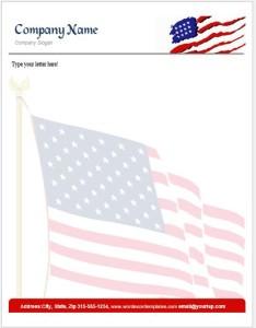 US Flag Letterhead Template