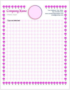 Letterhead Template with Monogram