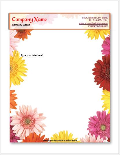 Event Letterhead Templates For Ms Word Word Amp Excel