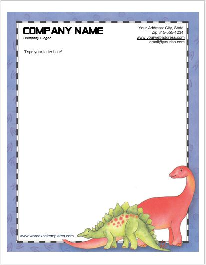 Animal Design Letterhead Templates For Ms Word Word Amp Excel Templates