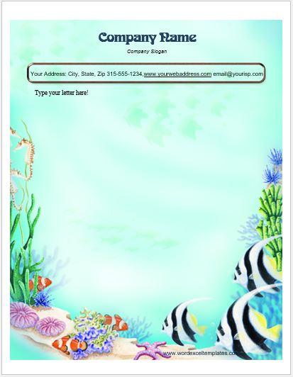 animal design letterhead templates for ms word