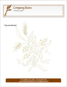 Thanksgiving Letterhead Template for MS Word