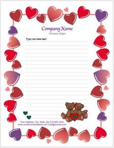 Valentine Letterhead Template