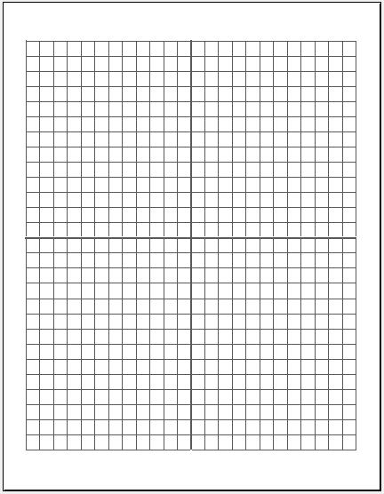 Cartesian Graph Paper Large Box
