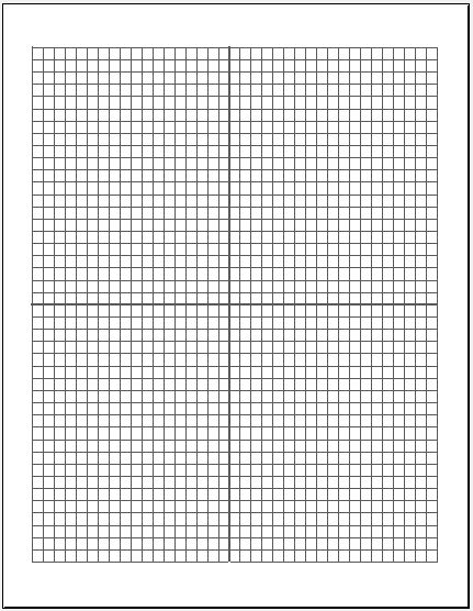 Cartesian Graph Paper Medium Box