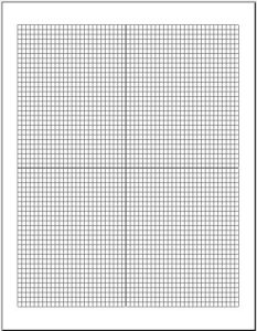 Cartesian Graph Paper Small Box