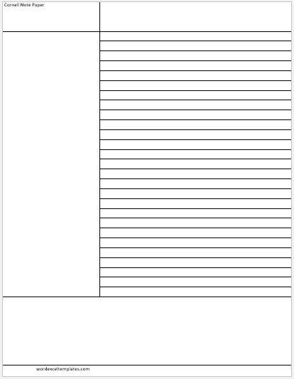 Cornel note paper