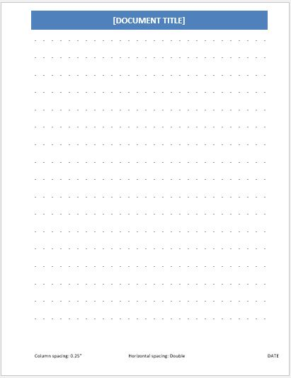 Dotted Paper 0.25 inch double line