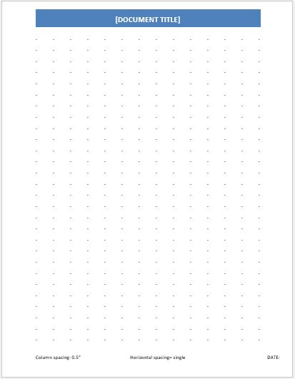 dotted papers for ms word