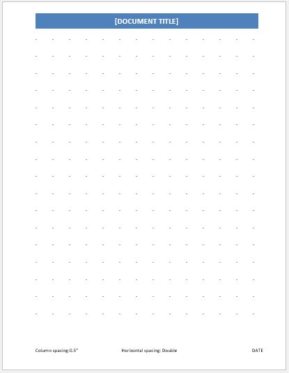 Dotted Paper 0.5 inch double line