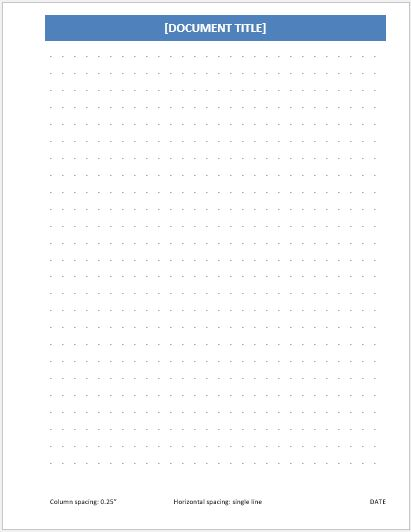 Dotted Paper 0.25 inch single line