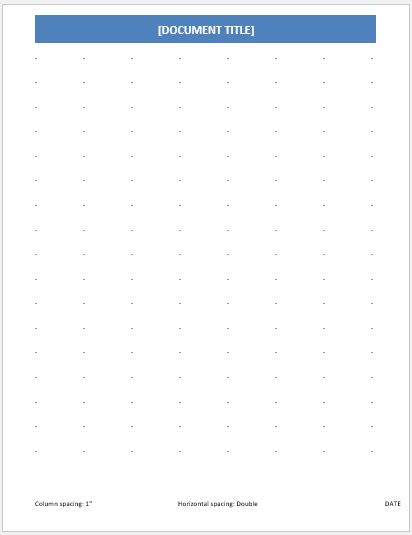 Dotted Paper 1 inch double line