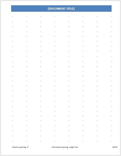 Dotted Paper 1 inch single line