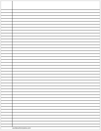 Narrow Ruled Lines Paper
