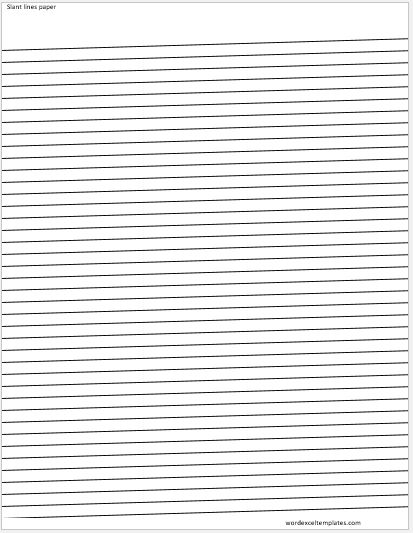 ms word lined papers for handwriting practice