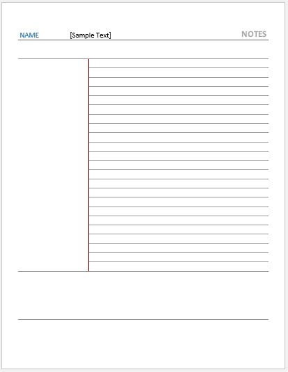 note paper templates for ms word